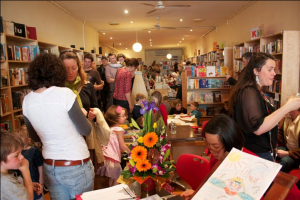 Book launch crowds