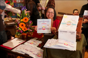 Yen selling copies of the book